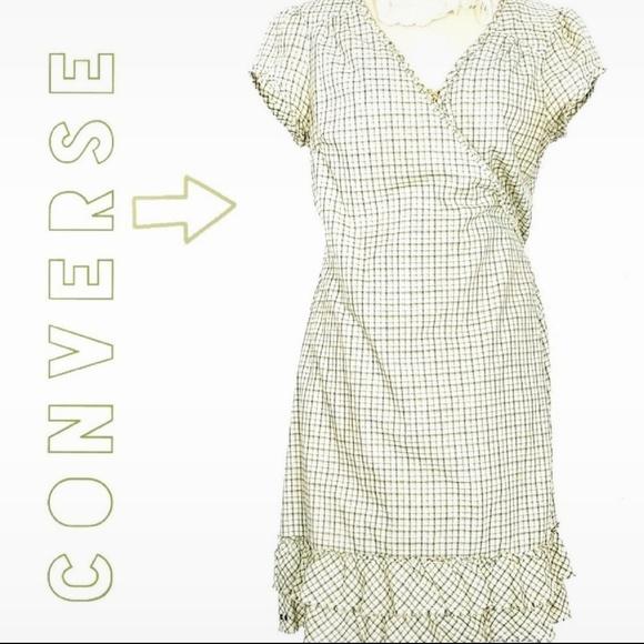 Converse Dresses & Skirts - Converse Skater Ruffle Wrap Dress Size M